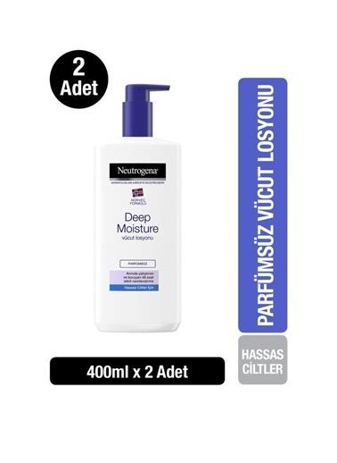 Neutrogena Deep Moisture Vücut Losyonu Parfümsüz Hassas Ciltler 400 Ml X2 Renksiz